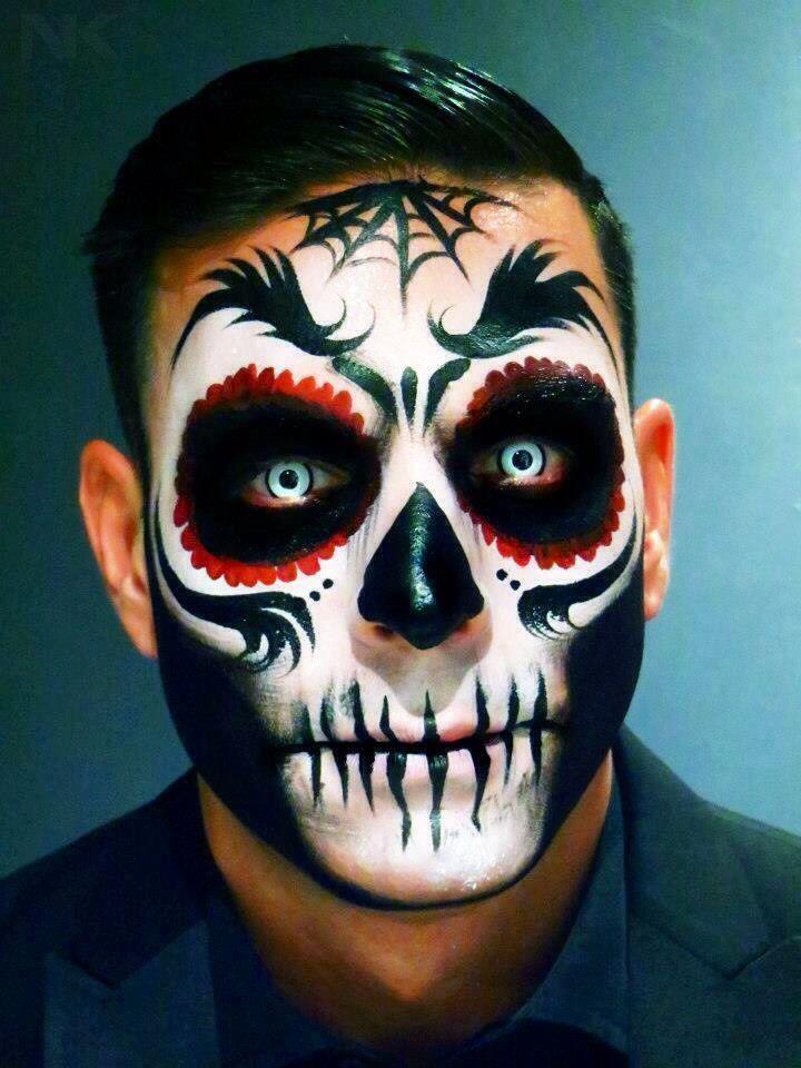 sugar skull makeup for men - Google Search