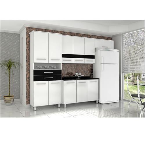 Cozinha Compacta Bartira Safira I com 11 Portas e 2 Gavetas