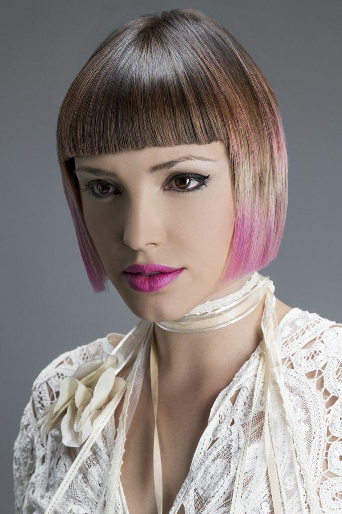 Rosas y beiges son los colores que usamos para lograr este look maravilloso