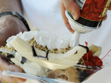 Original Banana Split. From the Banana Split Festival, held in Wilmington, Ohio. -- I may just have to visit this one!