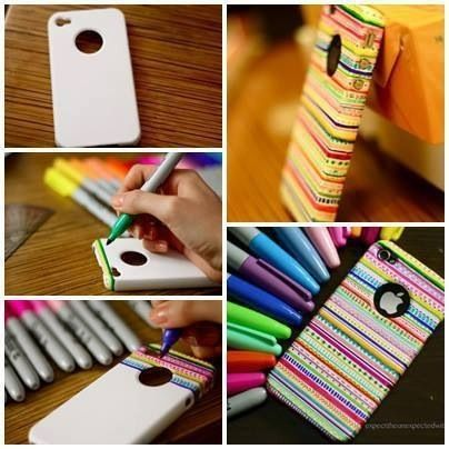 ριитєяєѕт: ωσяℓ∂fσяgιяℓѕ  #DIY teens phone cases. I would also paint a coat of clear nail polish so it won't wear off