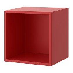 IKEA - VALJE, Pensile, rosso, , Puoi creare una soluzione unica combinando liberamente mobili di diverse misure, con o senza ante e cassetti.Il montaggio è semplice e veloce grazie al tassello che si inserisce nei fori predisposti.Ottimizza la tua soluzione con le scatole o le minicassettiere PALLRA.