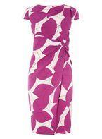 Womens **Lily & Franc Multi Coloured Leaf Print Bodycon Dress- Fl Multi