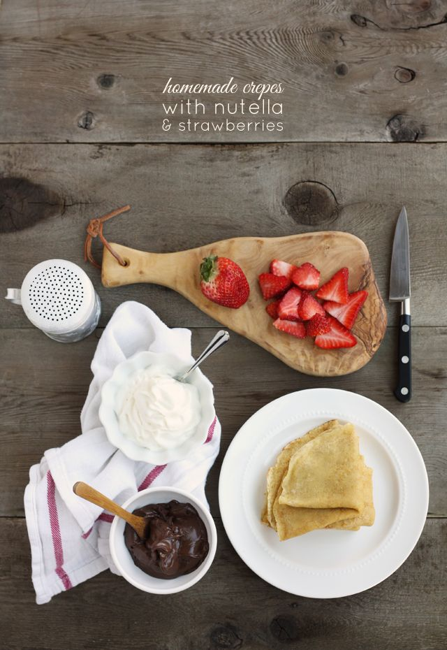 strawberry nutella crepes homemade crepes homemade desserts nutella ...