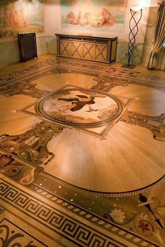 Wood Flooring Laser Inlays Berti Suite Villa Del