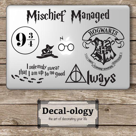 Harry Potter Set Apple Macbook Laptop Vinyl by DecalologyDesigns