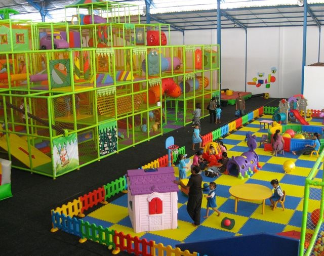 Bali Fun World is a 2000 square meter indoor entertainment center that complies to any regulation on safety existing , we do have the same safety specifications on our equipment as anywhere else in the world, all is approved and found safe by international standards as well. Fun for 0-6 years, for the bigger children and adults. This fun place is located in Gianyar, Bali    www.travelling-bali.com