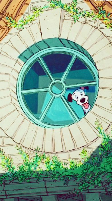 101 dalmatians, Pongo watching from the window with excitement