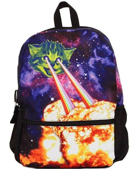 Cat Laser Eyes Backpack