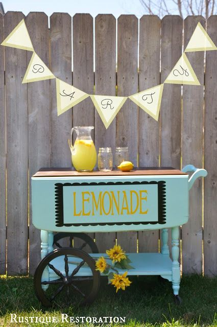 flea market flips before and afters | Lemonade and Sweet Treats Stand from Rustique Restoration