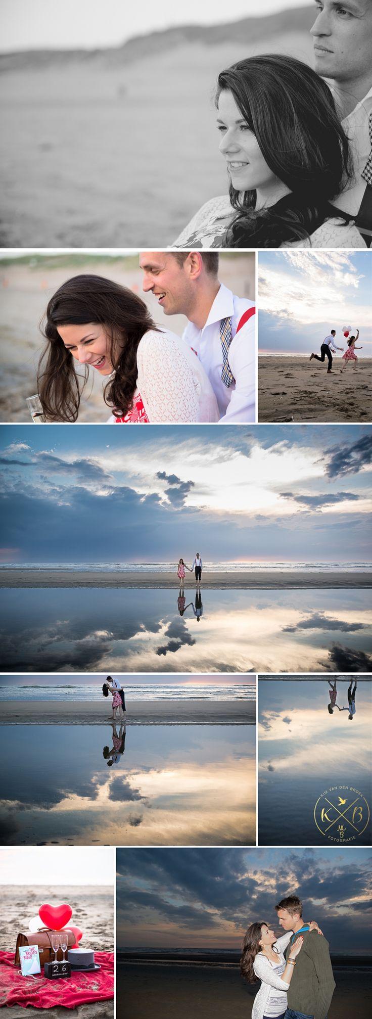 Loveshoot Maarten en Monica, Parnassia aan Zee, Bloemendaal, The Netherlands. by www.kimvandenbroek.nl #Engagement