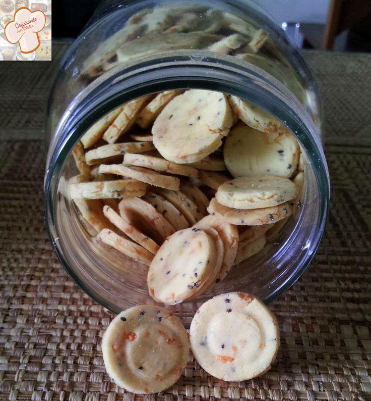 Cozinhando sem Glúten: Biscoitos salgados com chia
