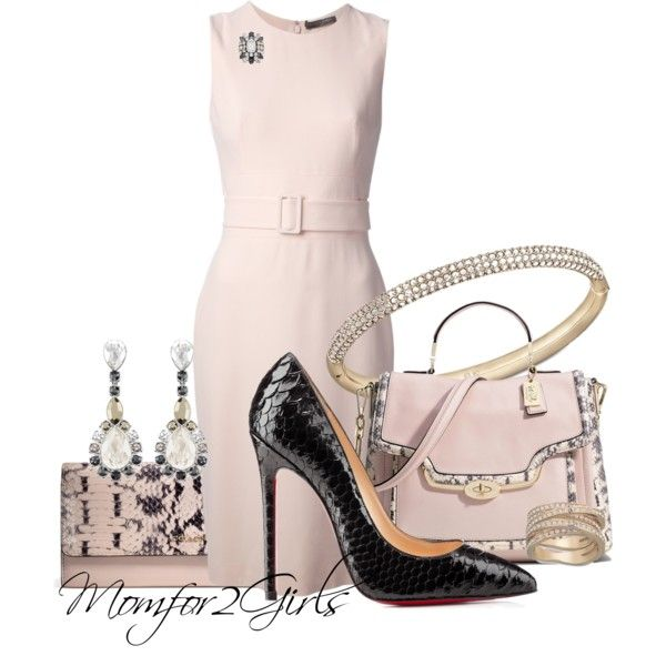 A fashion look from January 2014 featuring Alexander McQueen dresses, Christian Louboutin pumps y Coach handbags. Browse and shop related looks.