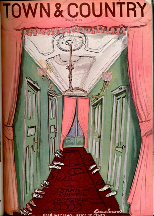 I could not possibly love this more... February 1940, illustration by Ludwig Bemelmans @Town & Country Magazine