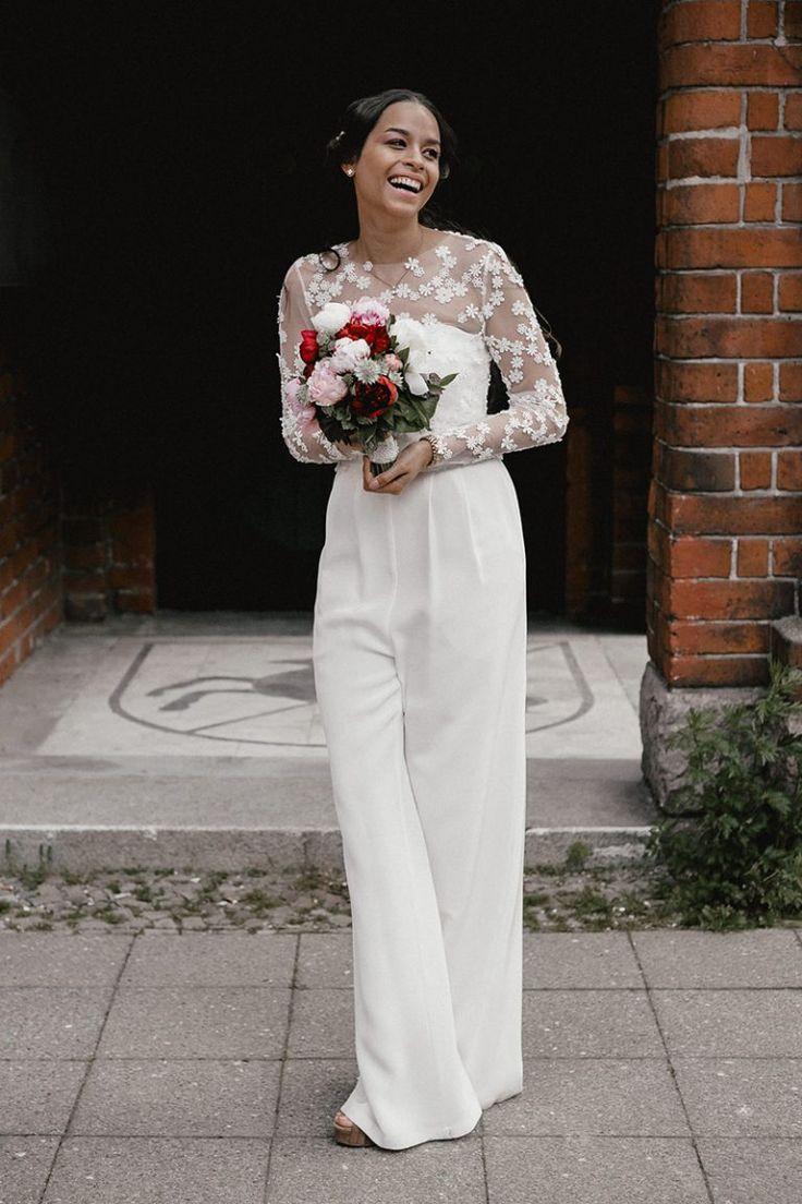 331 best real brides images on pinterest for Hochzeit jumpsuit