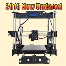 Tronxy 2016 Upgraded Quality High Precision Reprap 3D printer Prusa i3 DIY kit T818 with Mega 2560 auto leveling