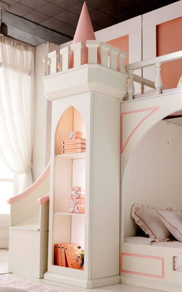 17 best ideas about bunk beds for girls on pinterest for Kids princess bedroom designs