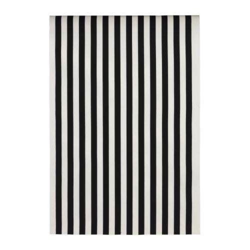 "SOFIA Fabric - wide stripe, black & white - 59"" wide, 25"" repeat, 100% cotton, machine wash/dry -- IKEA $ 8yd"