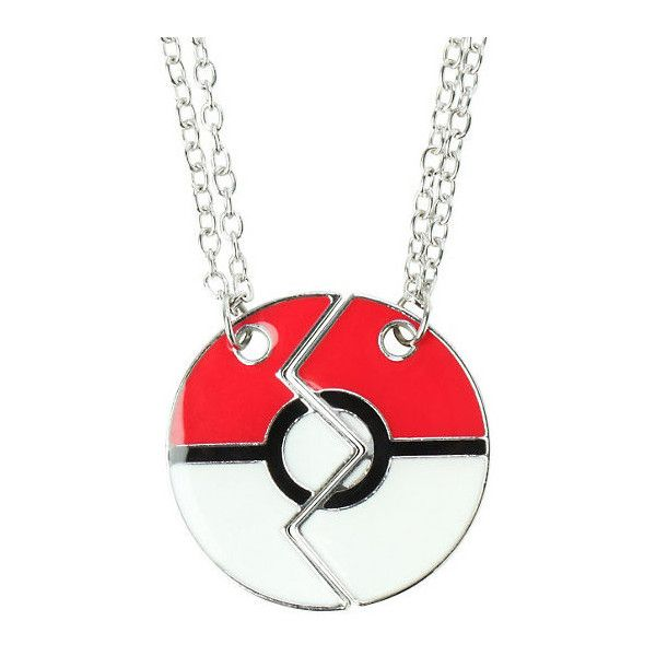 Pokemon Poke Ball Best Friends Necklace 2 Pack Hot Topic ($13) ❤ liked on Polyvore featuring jewelry, necklaces, ball pendant necklace, chain pendants, metal pendant, pendant necklace and engraved jewelry