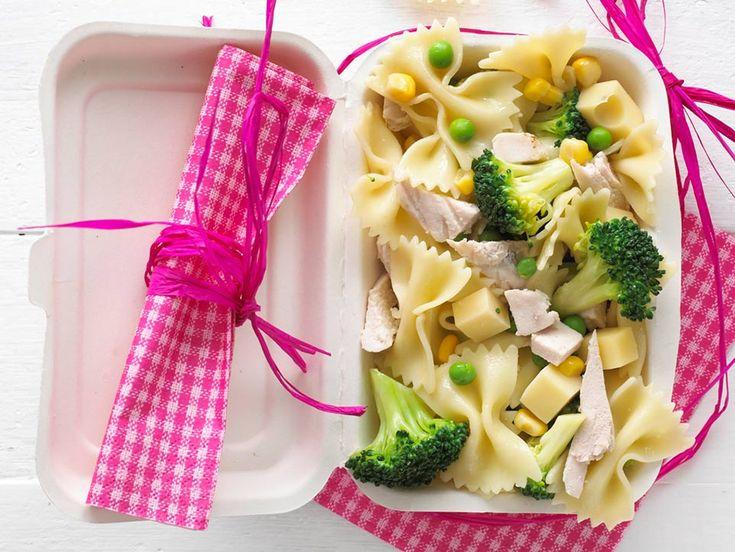 A delicious pasta salad that