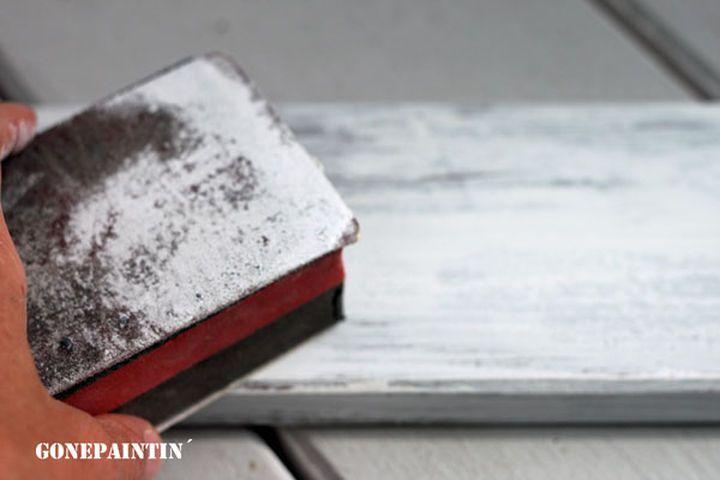 DIY Alten Esstisch neu aufbereiten zum Schreibtischshabby chic .oOffenBar