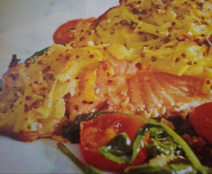 Rezept Lachs mit Kartoffel-Senf-Kruste von NadjaHer - Rezept der Kategorie Hauptgerichte mit Fisch & Meeresfrüchten