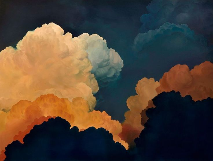 Majestic Cumulus Clouds Paintings by Ian Fisher