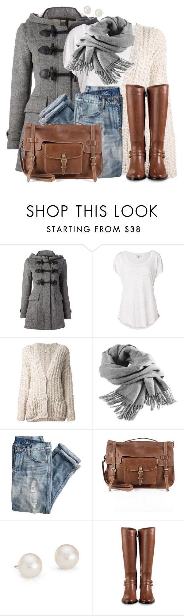 """""""Duffle Coat"""" by wishlist123 ❤ liked on Polyvore featuring Burberry, Witchery, Nude, Filippa K, J.Crew, Blue Nile, Cole Haan and dufflecoat"""