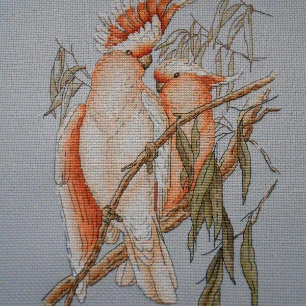 "Finished work by pattern ""Parrots"" #sa_stitch #sa_pattern #pattern #crossstitch"
