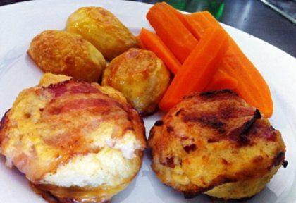 Tejszínes-sajtos csirkemell muffin tepsiben | NOSALTY – receptek képekkel