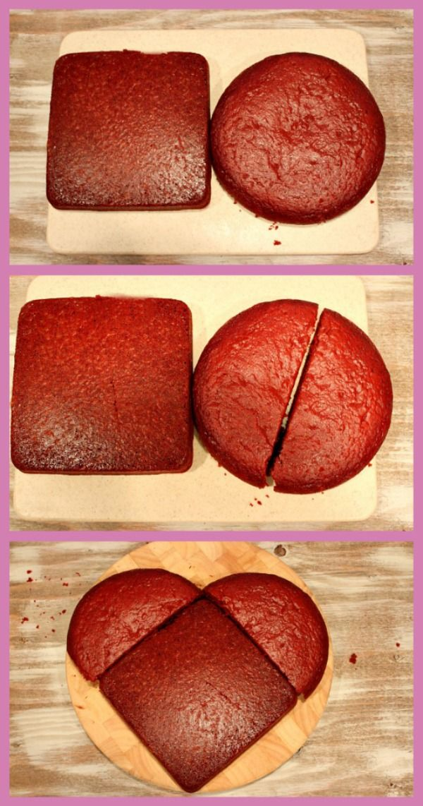 How to Make a Heart-Shaped Cake #valentinesday #recipe