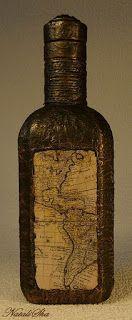 "Handmade from NataliSha: Интерьерная бутылка ""В поисках капитана Гранта"""