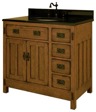 17 best images about bathroom ideas on pinterest traditional bathroom bathroom vanity for Craftsman style bathroom vanities