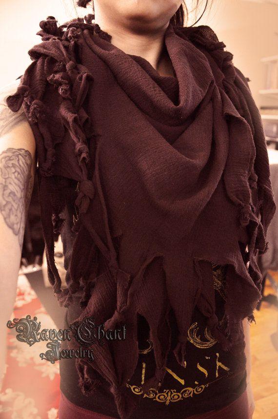 Unisex/versatile post apocalyptic tattered scarf on Etsy, $25.00