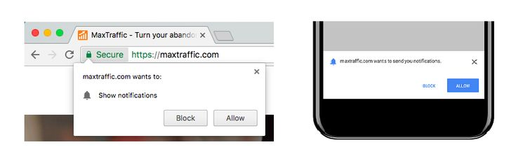 Accepting and Recovering Blocked Website Push Notifications | MaxTraffic