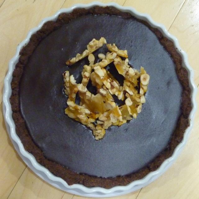 Chocolate Hazelnut Tart | www.thenerdychef.com | Pinterest