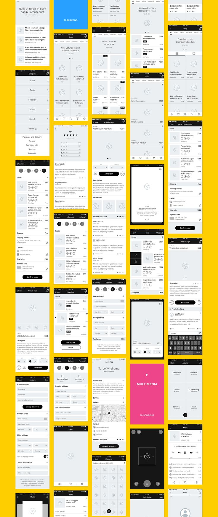 UI8 — Products — Turbo iOS Wireframe Kit