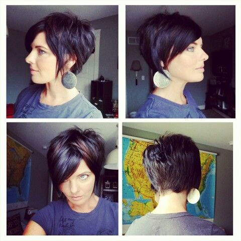 Short haircut back side front view 2014