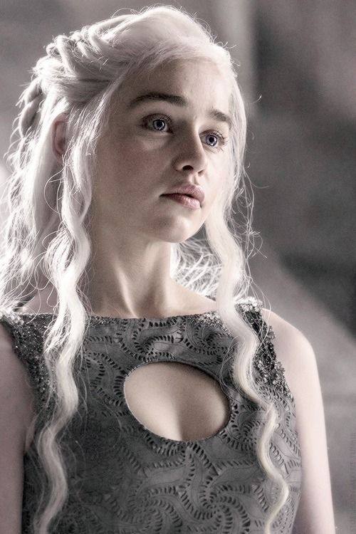 #Daenerys Stormborn of the House Targaryen, the Unburnt, the First of Her Name, Queen of Meereen, Queen of the Andals, the Rhoynar and the First Men, Lady Regnant of the Seven Kingdoms, Protector of the Realm, Khaleesi of the Great Grass Sea,  Breaker of Chains and Mother of Dragons ♕ #GoT 4x10
