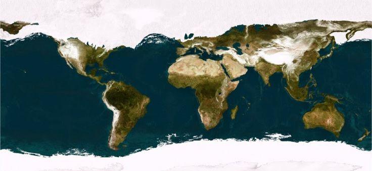 Como o mundo era durante a última era glacial