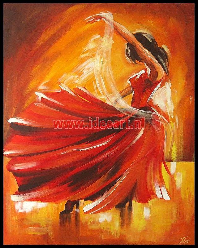 Schilderij dansende vrouw 6058