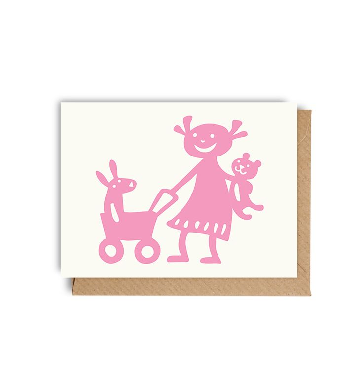 Baby girl mini card by Bengt & Lotta