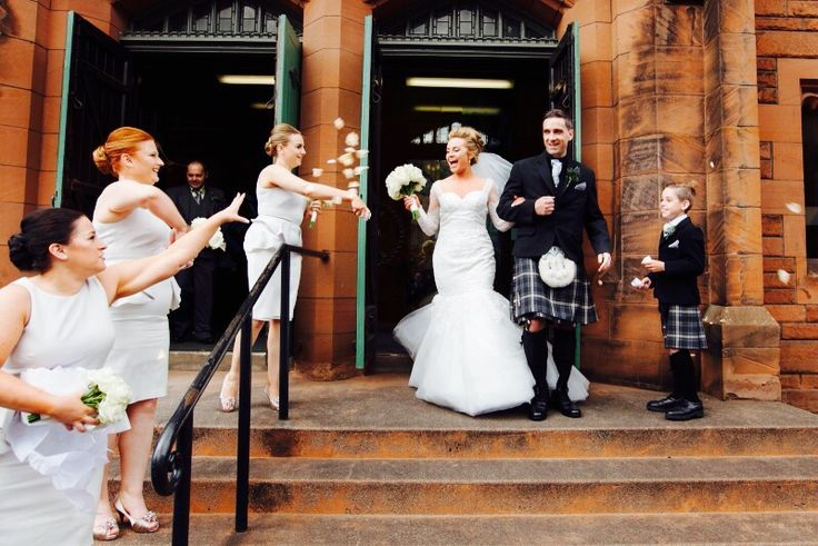 Church wedding departure!  Edinburgh Stockbridge