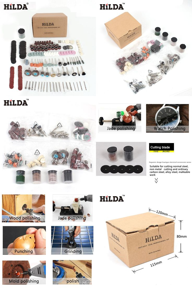 [Visit to Buy] 248PCS Rotary Tool Accessories Kit for Easy Cutting Grinding Sanding Carving and Polishing Tool Combination For Hilda for Dremel #Advertisement