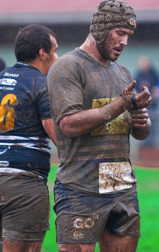 Muscle Bear Men Beards Rugby Mud Men Rugby