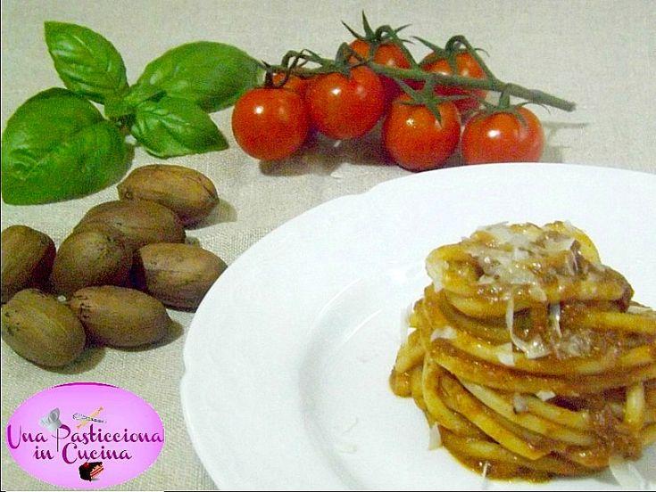 Spaghetti al Pesto Rosso di Noci Pecan