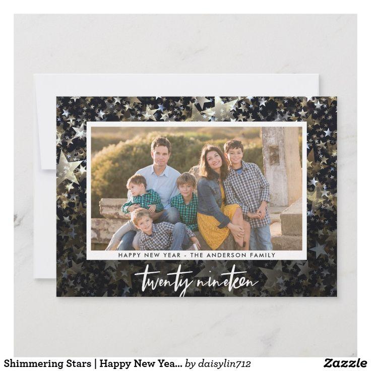 Shimmering Stars | Happy New Year Twenty Nineteen Holiday Card