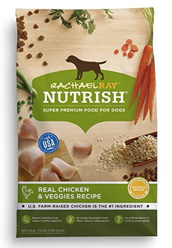 Rachael Ray Nutrish Natural Dry Dog Food, Real Chicken & Veggies Recipe, 28 lb - Rachael Ray Nutrish Real Chicken & Veggies Recipe is made with simple, natural ingredients, like real U.S. farm-raised chicken, which is always the number one ingredient, combined with wholesome vegetables and added vitamins & minerals.