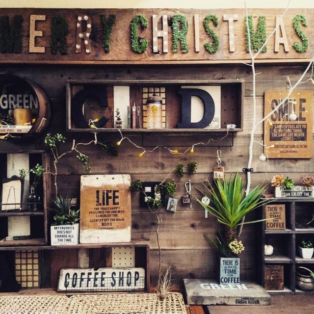 chikoさんの、DIY,100均アイテム,クリスマスディスプレイ,リノベーション,玄関/入り口,のお部屋写真