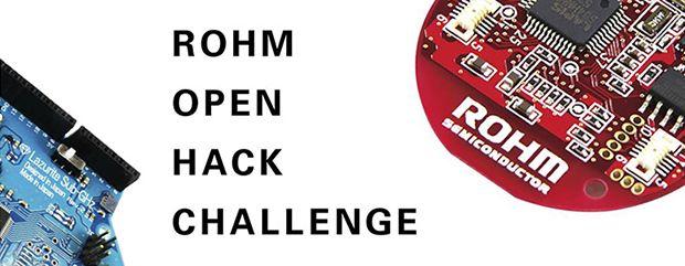 ロームは、センサや無線通信モジュールなどローム製デバイスを活用したアイデアコンテスト「ROHM OPEN HACK CHALLENGE」を開催すると発表した。優秀作品は同社が出展する国内外の展示会で紹介される。